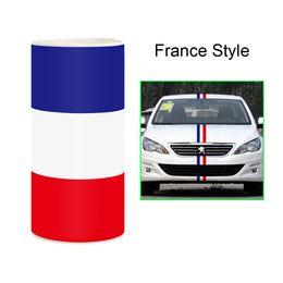 Наклейки на крышку двигателя онлайн-15 см*100 см автомобиль наклейка стайлинга автомобилей для крышки двигателя национальный флаг ПВХ пленка кузова автомобиля капот наклейка для BMW VW 3 цвета