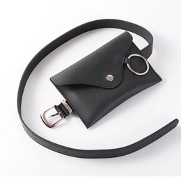 Sacos pequenos do iphone on-line-Mulheres de Couro Moda Cintura Pequena 4 cores Cinto Bolsas Bordadas Com círculo de metal Bolsa Feminina Bolsa Para Iphone X 17X12X1 cm