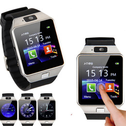 Wholesale smart women - smart watches smartwatch bluetooth watch phones for men and women DZ09 support SIM Card TF card for Android smart phone