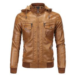 Европейский стиль 2019 мужская кожаная куртка плюс бархат теплая классический овчины с капюшоном кожаное пальто от