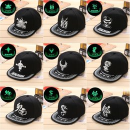 26553a2956f Hip Hop Dome Hat Fashion Canvas Fluorescent Baseball Cap Cartoon Comic  Pattern Sun Protection Snapback For Men Women 68bc BB