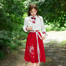 Wholesale Princess Chest - Han costume improvement Tang long sleeves imperial concubine costume princess chest cos dress