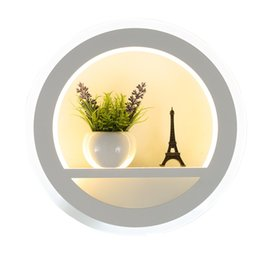 Wholesale Picture Mounts - 30w Modern wall light for bedroom Living room Home Decoration flower picture background LED wall lamp surface mounted warm white