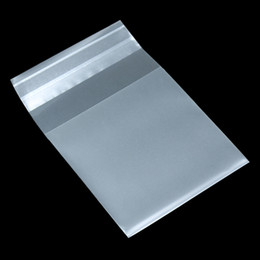 Wholesale clear adhesive food bags - Matte Clear Self Adhesive Plastic Gift Bag For Candy Cookies Biscuits Packaging Pack Frosted Pouch 8 Size