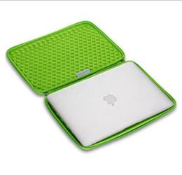 capa de couro apple macbook pro Desconto Saco isolado do portátil da caixa da luva do neopreno da CINZA, luva do portátil do silicone do computador