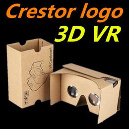 lunettes bleues pas cher Promotion 100 pcs 3D Lunettes VR Lunettes DIY Google Carton Mobile Téléphone Réalité Virtuelle Unofficial Carton VR Toolkit 3D Lunettes