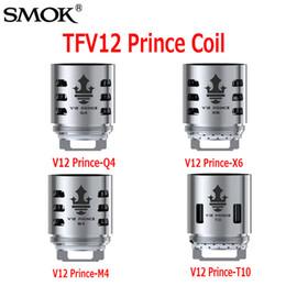 Wholesale Head Vape - Authentic SMOK TFV12 Prince Cloud Beast Coil Head Replacement V12 Q4 X6 T10 M4 Coils Massive Vapor Vape Core Tank 100% Genuine SmokTech