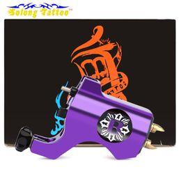 2019 tomas de la máquina Venta caliente Solong Tattoo Electric Tattoo Gun máquina de maquillaje permanente Motor de aleación de aluminio Rotary Tattoo Machine Hook línea Jack tomas de la máquina baratos