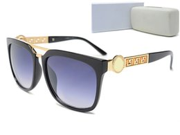 Wholesale Medusa Glasses - New fashion UV400 Protection Italy Brand Designer Medusa Sunglasses Men Women Square Sun glasses With Original box