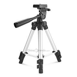 Trípodes panorámicos online-Trípode de cámara portátil HM330A Ajustable universal de 360 grados Manija panorámica giratoria