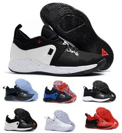 Wholesale Playstation Black - Cheap PG 2 Basketball Shoes Men White Paul Georges PG 2 II Playstation Eybl Elements Mamba Mentality Athletic Sprot Shoe Sneakers size 7-12