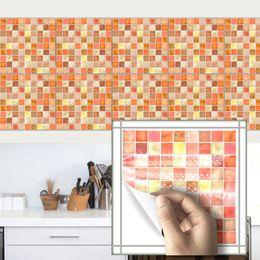 Fliesenmöbel Rabatt Wandaufkleber 3D Nachahmung Marmor Möbel PVC  Wasserdicht Selbstklebende Tapete Küche Badezimmer Mosaik Fliesen Aufkleber
