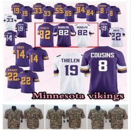 jerseys de fútbol 14 Rebajas Jerseys de vikingos de Minnesota 22 Harrison Smith 8 Primos de Kirk 19 Adam Thielen 82 Kyle Rudolph 14 Stefon Diggs Football Jersey