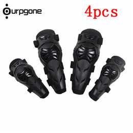 Wholesale Bike Elbow - 4Pcs Kit Adult Elbow Knee Armor Guard Gear Pads Protector for Motorcross Sports Motorcycle Motorbike Bike
