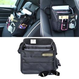 Wholesale Door Pockets - Auto Car Front Back Seat Pockets Organizer Multi Pocket Storage Bag Cover car Seat Back Box Organizer Holder GGA91 5PCS