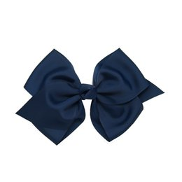 Wholesale Animal Grosgrain Ribbon - 3Pcs lot Solid 6'' Big Grosgrain Hair Bows With Clips Boutique Ribbon Hair Bow Alligator clip For Girl Hairpins
