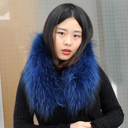 sudadera con capucha de piel real Rebajas CX-A-76R Cuello de piel real 100% auténtica piel de mapache bufanda con capucha de recorte para la capa de Down / Parka