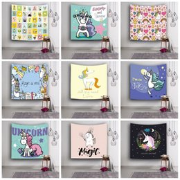 Wholesale Hair Elasticity - Cute 3D Beach Towel Micro Elasticity Unicorn Pattern Shawl For Home Wall Decoration Tapestry Top Quality 18lsa B