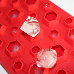 Diamant-eiswürfel-schale silikon online-3D Diamanten Gem Cool Ice Cube Schokolade Seifenschale Mold Silikon Fodant Formen