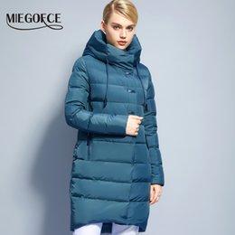 Wholesale Brand Bio - Wholesale- Winter Women's Jacket Coat Bio-down Windproof Warm Women Parkas Thickening Cotton Padded Female Jacket Brand MIEGOFCE 2017 New