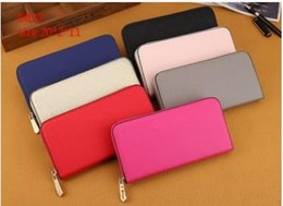 Wholesale Cheap Pocket Squares - Hot! wholesale famous brand fashion single zipper cheap luxury designer women pu leather wallet lady ladies long purse