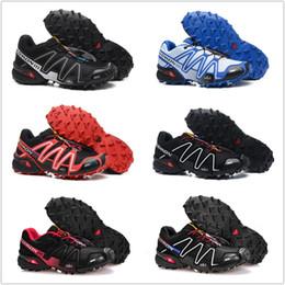Mejores zapatillas para caminar online-Salomon 2018 hombres Speedcross 3 Trail mejores hombres de calidad Red zapatillas para correr al aire libre Un jogging de zapatillas de deporte para caminar al aire libre 29 colores