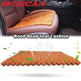 Cuscini sedili estivi online-Cuscino per seggiolino auto per cuscino estivo per auto Cuscino per auto in legno naturale per divano da auto
