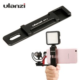 2019 video-erweiterung Ulanzi PT-1 Mikrofon Kalten Schuhplatte Universal Aluminium Extension Bar Halterung Adapter für Stativ Mic Video Licht Smartphones günstig video-erweiterung