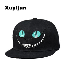Wholesale Bug Hats - Xuyijun 2017 Alice Wonderland Cheshire Cat Cartoon Baseball Caps Bugs Bunny Sylvester Hats For Men And Women Snapback Hiphop