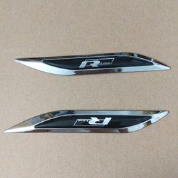 Adesivos passat on-line-R-line Rline Lâmina Fender Side Emblema Emblema Decalque Adesivo para VW Golf MK4 6 7 Polo 6r 9n Tiguan Jetta Scirocco Passat B5 B6 B7