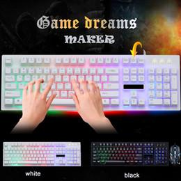 оконная клавиатура xp Скидка G20 подсветка LED Pro Gaming Keyboard USB проводная Powered Gamer Keyboard с 2000 DPI мышь для компьютерной игры LOL Light Gaming