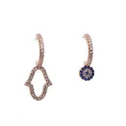 2018 nuovo design moda orecchini asimmetrici per le donne alla moda bijoux piccolo fiore blu irregolare geometrica goccia orecchini pendenti cheap geometric earring design da disegno orecchino geometrico fornitori
