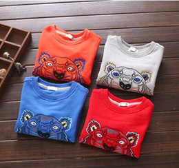 Wholesale Boy Christmas Clothes - Brand New Children Clothing Toddler Girl Spring Autumn Embroidered Jersey Toddler Boy Long Sleeve Pullover Top Free Shipping