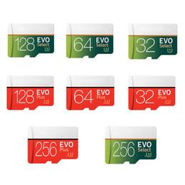 2019 teléfonos flasheados EVO Plus VS EVO Select 256GB 128GB 64GB 32GB SD Micro Memory TF Trans Flash Tarjeta de alta velocidad para cámaras Teléfonos inteligentes teléfonos flasheados baratos