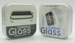 Argentina Para Apple iwatch 4 Protector de pantalla 3D Cristal templado curvo completo 38mm 42mm Serie 1/2/3 Protector antirrayas con caja de cristal cheap apple iwatch screen protector Suministro