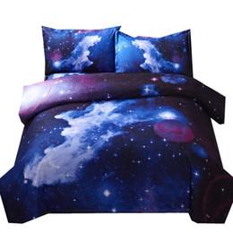 Canada 3d Galaxy housse de couette unique double double 4pcs ensembles de literie Universe espace extérieur à thème linge de lit Offre