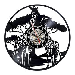 Diy подарок для часов для наклейки на стены изменить 2018 Giraffe Safari Theme art Украшения Детская Детская Виниловые Часы Мужчины Спальня Аксессуары от Поставщики дешевые королевские синие пkers for windows