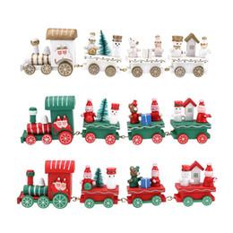 crianças, trem, brinquedo Desconto 2017 Mais Novo Mini Trem De Madeira De Natal Presente de Natal Inovador Kid brinquedos para Crianças Presentes Diecasts Toy Vehicles