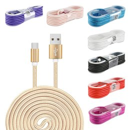 Wholesale pc chargers - 1.5M Nylon Braided Fast USB Charging Cable 5FT 150CM For All Phones Tablet PC Charger Cables