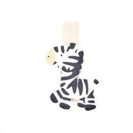 Wholesale Animal Paper Clips - 8PCS 3.5*2cm DIY Clothes Paper Peg Party Decoration Cute Horse Zebra Wooden Clothespin Office Supplies Photo Craft Clips