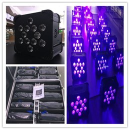 Wholesale Auto Charge - 10 lot 12*18w cheap wireless dmx battery powered uplighting flat led par cans for bar with charging case
