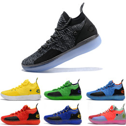 2019 ZOOM KD Kevin Durant 11 XI seattle Paranoid Emoji cool grigio Triple Black Elite For Mens Scarpe da basket Athletic Sport Sneakers da scarpe emoji fornitori