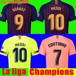 rosa lejos Rebajas 2018 2019 FC barcelona soccer jersey football shirt  chandal Jersey de fútbol Messi fe3f939e38c82