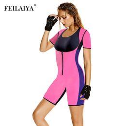 e6e9052803 Women Full Body Shaper Tummy Waist Trainer Weight Loss Shapewear Bodysuit  Sweat Sauna Suit Butt Lifter Neoprene Slimming Corset