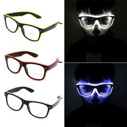 Светящиеся LED очки El провода мода Неон для танцы бар свечение рейв-атмосферу активации диджей яркие очки реквизит игрушки новизны от Поставщики кабельная одежда