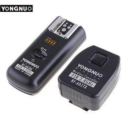 2019 camara flash yongnuo Apuramento YONGNUO RF602 RF-602 Disparador de Flash Remoto Sem Fio 2.4GHz para D90 D5100 D700 D330 D5300 DLSR Câmera Original desconto camara flash yongnuo