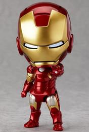 Figuras de barro on-line-Figuras de Ação Figma Anime mão para fazer atacado Q versão argila Avengers Aliança 284 # Homem De Ferro Mark7 rosto enfeites de boneca