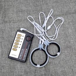 Anneaux électriques en Ligne-Anneaux de massage de pénis accessoires de choc électrique pour homme, 2 pcs / lot Electro Shock Cock Rings produits de sexe