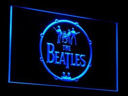 Bandes de signe au néon en Ligne-c013-b The Beatles Band Musique Batterie Signes Neon Light