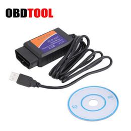 Wholesale Elm327 Usb Scanner Tool - V1.5 ELM327 USB Interface OBD II OBD2 Auto Diagnostic Scanner PC-based Universal Car Scan Tool Cable ELM 327 JC10